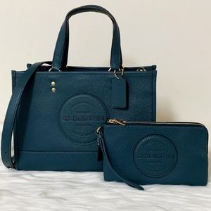 ⚜CoachDEMPSEY CARRYALL WITH PATCH and Wallet